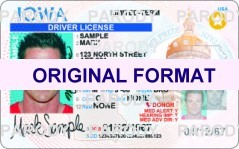 fake id iowa scannable with holograms id card iowa