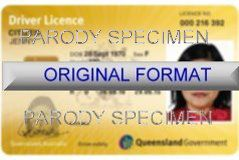 QUEENSLAND DRIVER LICENSE ORIGINAL FORMAT, DESIGN SPECIFICATIONS, NOVELTY SECURITY CARD PROFILES, IDENTITY, NEW SOFTWARE ID SOFTWARE QUEENSLAND driver