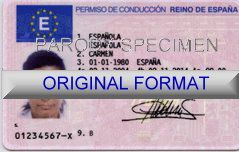 ESPANA DRIVER LICENSE ORIGINAL FORMAT, DESIGN SPECIFICATIONS, NOVELTY SECURITY CARD PROFILES, IDENTITY, NEW SOFTWARE ID SOFTWARE