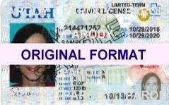 utah fake id scananble with hologram for sale